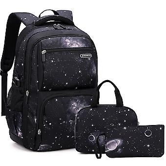 Schoolbags for primary and middle school students, boys grades 4-11, three-piece backpack