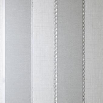 Larson Stripe Grey Silver Wallpaper