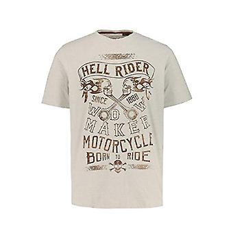 JP 1880 Vintage T-Shirt, Melange Sabbia Chiara, XXXXXL Men's