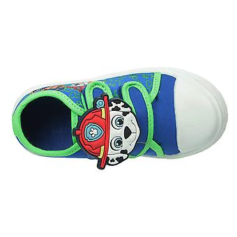 Boys Blue Paw Patrol Chase Marshall Low-Top Casual Trainer