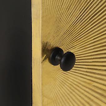 comodino vidaXL con frontale in ottone 40x30x50 cm mango in legno massello