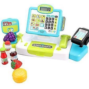 النقدية تسجيل لعب الأطفال التظاهر لعبة لعب الأدوار محاكاة سوبر ماركت سجل النقدية تعيين az9001