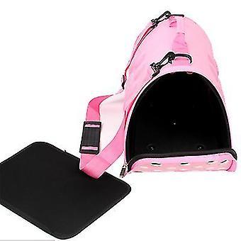 S 43 *24 * 26cm pink bærbare kæledyr rejsetaske, kat og hund åndbar håndtaske az22134