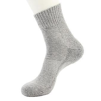 אפור 10 זוגות חורף בתוספת קטיפה גברים כותנה ספורט גרביים לבן עבה מגבת x3266