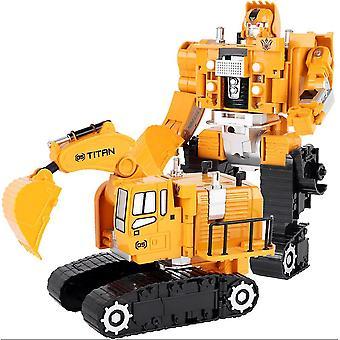New Deformation Excavator Toys King Kong Hercules Alloy Car Combination Robot ES11457