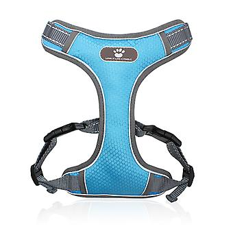Soft Mesh Dog Harness With Bright Reflective Tape For Easy Adjustment
