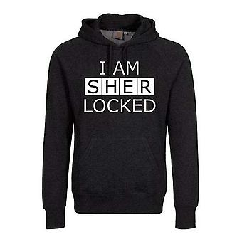Sherlock - I am Sherlocked Men's XXX-Large Pullover Hoodie - Black
