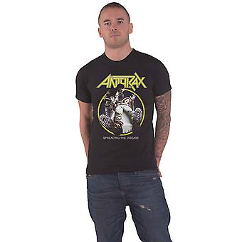 Anthrax T Shirt Spreading The Disease Track List new Official Mens Black