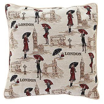 Miss london cushion cover by signare tapestry / 18in x 18in / ccov-msln