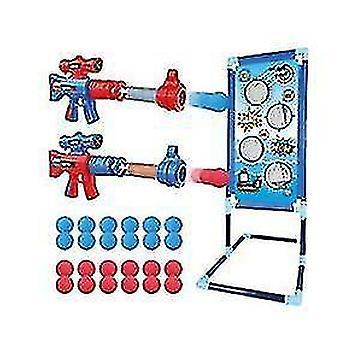 Schießen Spiel Spielzeug für Kinder, mit 24 Schaumkugeln, 2 Schaum Ball Popper Air Guns