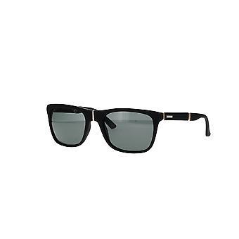 Chopard SCH135 6AAP gummerade svarta/grågröna solglasögon