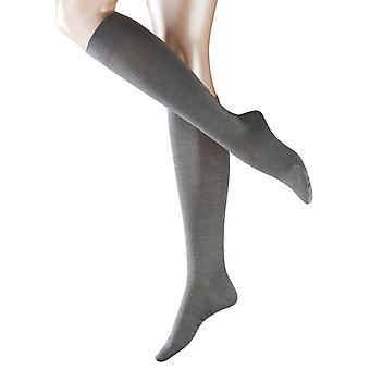 Falke Sensitive Berlin sokken knie hoge - lichtgrijs