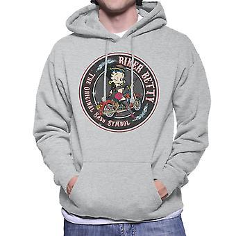 Betty Boop Biker Betty Men's Hooded Sweatshirt