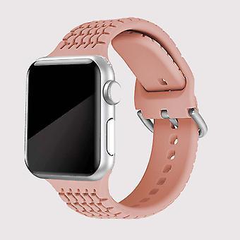 Розовый ремешок для яблочных часов 42/44 мм