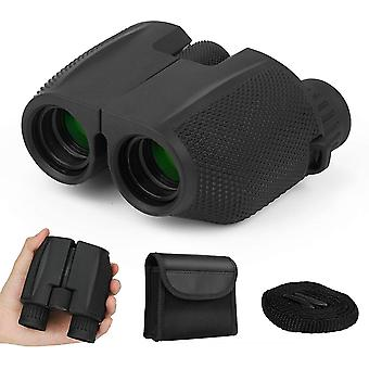 10x25 binoculars for children and adults, HD waterproof binoculars with night vision and FMC lens