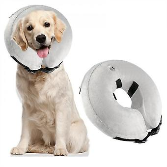 Inflatable Protective Collar For Dog Cone Collar,soft Recovery Collar For Dog After Surgery,suitable For Large/medium/small Pets,light,adjustable Donu