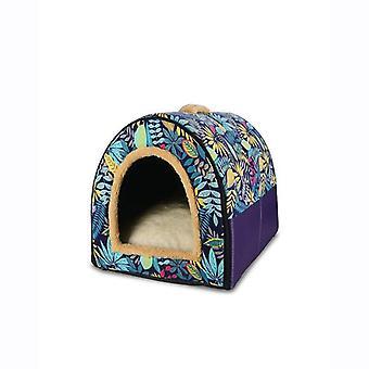 מיטה חתול קטיפה סופר רכה במיוחד, בית חיות מחמד חורף חם, חיית מחמד לכלבים חיצוניים