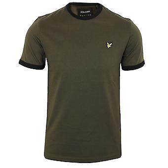 Lyle & scott men's olive ringer t-shirt