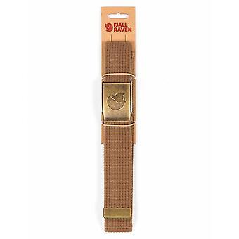 Fjallraven Canvas Brass Belt 4cm - Dark Sand