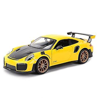 Toy cars 1:24 porsche 911 gt2 rs sports car static die cast vehicles collectible model car toys