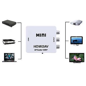 Hdmi To Av Cvbs Video Audio Signal Muunnin sovitin Tv Vhs Vcr Dvd