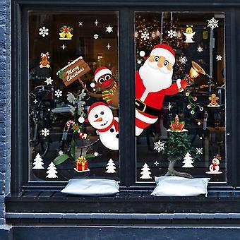 Weihnachtstür und Fensterdekoration Wandaufkleber