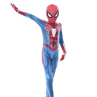 Hra Verzia detských jednodielnych pančuchy Spider-man hrať kostým Halloween kostýmy (110-150cm)