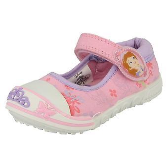ディズニーの女の子のバンパー キャンバス靴ソフィア夢