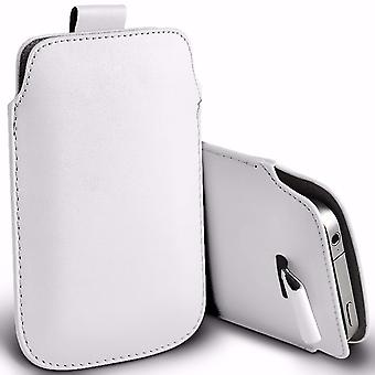 i-Tronixs Premium Stylish Faux Leather Pull Tab Pouch Skin Case Cover For Intex Aqua Classic (5