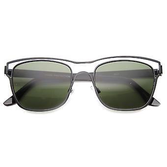 Unisex Horn umrandeten Sonnenbrille mit UV400 Schutz zusammengesetztes Objektiv