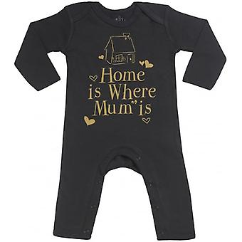 Spoilt Rotten Home Is Where Mum Is Baby Footless Romper