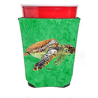 Carolines Treasures  8675RSC Turtle  Red Solo Cup Beverage Insulator Hugger