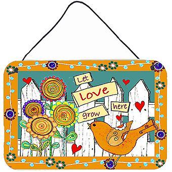 Carolines Treasures  PJC1101DS812 Let Love Grow Here Wall or Door Hanging Prints