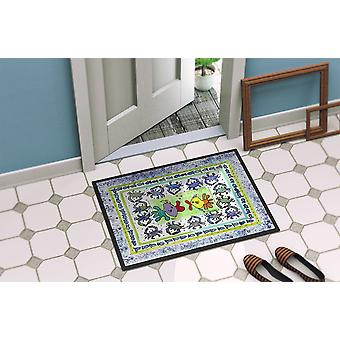 Carolines Treasures  8073-MAT Fish Kissing Fish Indoor or Outdoor Mat 18x27 8073