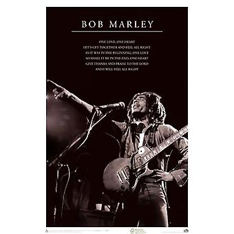 Bob Marley - One Love Poster Poster Print