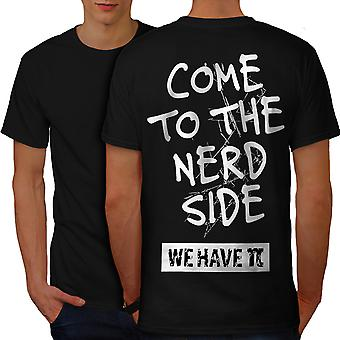 Geek Side Men BlackT-shirt Back | Wellcoda