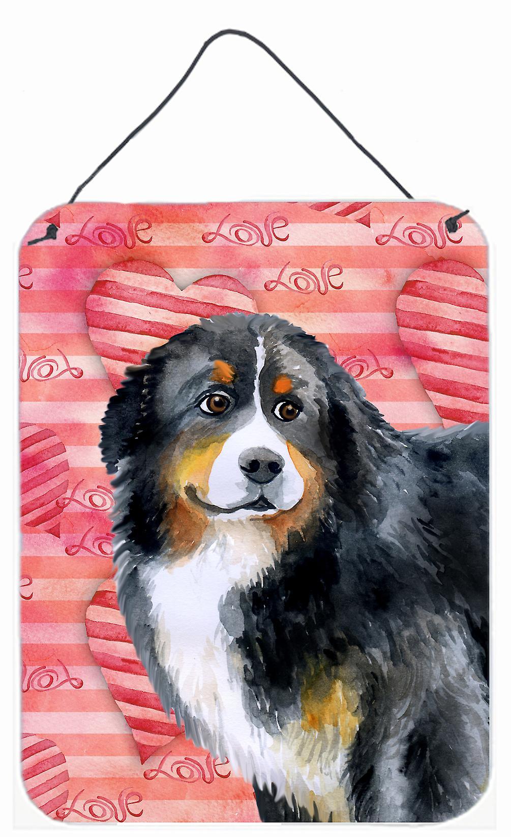 Multicolor 16 x 12 Carolines Treasures Greater Swiss Mountain Dog Aluminium Metal Wall or Door Hanging Prints