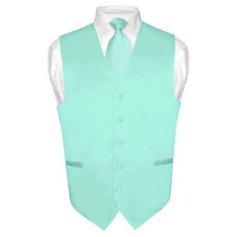 男士连衣裙背心和颈部实心颈领带套装,适合西装或 Tux