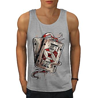 Ace Jack Of Spades Men GreyTank Top | Wellcoda