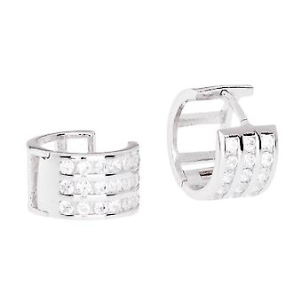 Sterling 925 zilver HOOP earrings - BLING koning 12 mm