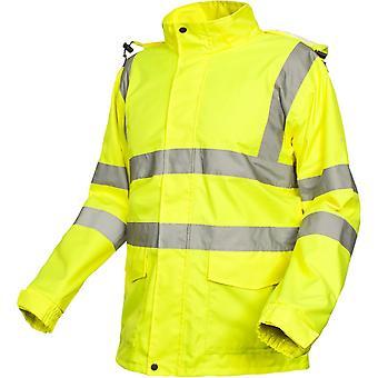 Hausfriedensbruch Mens winken wasserdicht atmungsaktiv Warnschutz Arbeitsjacke