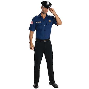 Police Officer Cop Navy Uniform Policeman Role Play Dress Up Mens Costume