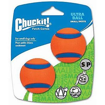 Chuckit Ultra hond bal Toy 2 PC's maat S
