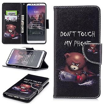 Pocket plånbok motiv 30 för Xiaomi Redmi 5 skydd ärm fall täcka påse nya
