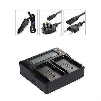 Dot.Foto Sony NP-FZ100 doble batería cargador - USB salida de corriente - 12v DC - en todo el mundo - estado pantalla LCD - Sony Alpha 9 / a9 / ILCE-9