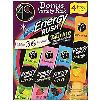 4C Energy Rush with Taurine Variety Pack Drink Mix