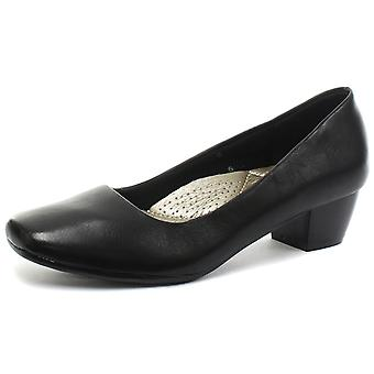Boulevard L402A Womens Low Heel Plain Court Shoes