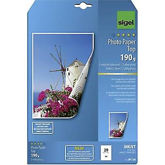 Sigel Photo Paper Top IP720 Photo paper A4 190 gm² 20 sheet High-lustre, Double sided
