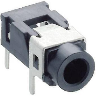 Lumberg 1503 08 audio jack 3,5 mm femelle, horizontal Mont nombre de broches: 3 stéréo noir 1 PC (s)