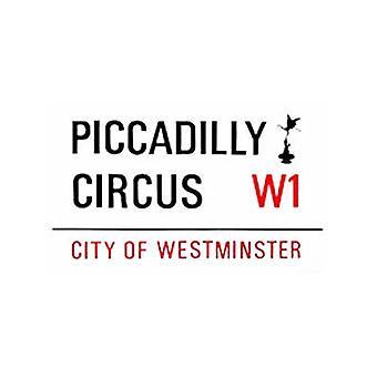 Piccadilly Circus små emalje skilt